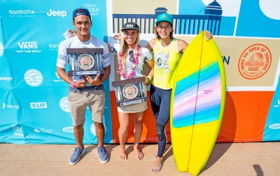 Hawaii Sweep at Vans US Open in Men's, and Women's Pro Junior, and Duct Tape Invitational