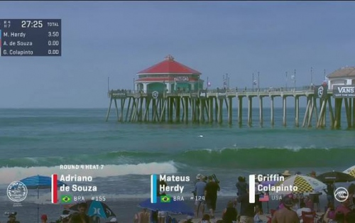 Griffin Colapinto with an 8.93 Wave vs. A.de Souza, M.Herdy