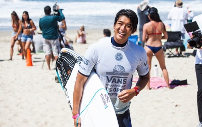 Kanoa Igarashi Goes to Work at Huntington