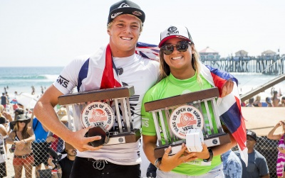 Young and Hennessy Win Vans US Open of Surfing Pro Junior